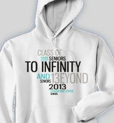 Senior Hooded Sweatshirt - Random Words desn-268u9