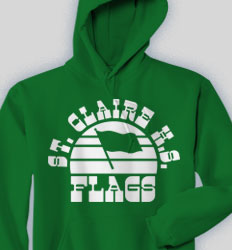 Flags Hooded Sweatshirt - Sunset Sounds clas 660s9