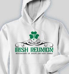 Reunion Hooded Sweatshirt - Irish Reunion desn-489i1