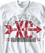 Cross Country T Shirt - PE Country desn-522p1