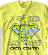 Cross Country T Shirt - Super X-Country desn 531x1