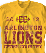 Cross Country T Shirt - Go Cross Country desn-527g1
