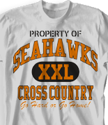 Cross Country T Shirt - New Vintage desn-519n2