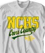 Cross Country T Shirt - College Town desn-525c1