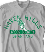Cross Country T Shirt - Old School Track desn-341o3