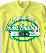Cross Country T Shirt - Speedway desn-495s3