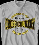 Cross Country T Shirt - Gym Logo desn-526g1