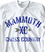 Cross Country T Shirt - Mammoth Country desn-518m1