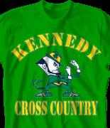 Cross Country T Shirt - Irish Cross Country desn-321i1