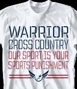 Cross Country T Shirt - Stencil Sport desn 275s7