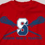 Lacrosse T Shirt - Lacrosse Pride desn-354l1