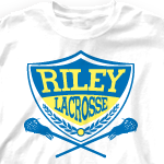 """Custom Team Lacrosse Shirts - LAX Badge-359l1 """