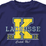 Custom Team Lacrosse Shirts - Big Letter-351b1