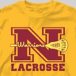 Lacrosse T Shirt - Classic Letter-343c2
