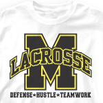 Lacrosse Team Shirt - Varsity Arch 352v1
