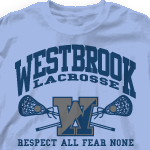 """Lacrosse Team Shirt - Athletic Arch-728a8"""