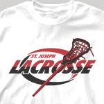 Lacrosse Team Shirt - Swirl Lacrosse-358s8
