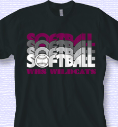 Custom Softball T-Shirt Designs for Your Team - Cool Team Softball ...