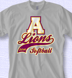 cool softball shirt design sport tail desn 615s6
