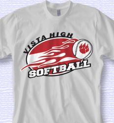 softball shirt design on fire softball desn 879o1