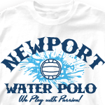 Water Polo Team Shirts - Play with Passion 278p2