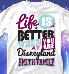 Disneyland Family Vacation Shirts - Life Slogans desn-634m5