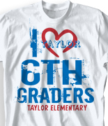 elementary t shirt link heart logo 88l6 - School T Shirt Design Ideas