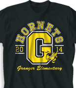 Elementary T Shirt - Big Letter desn-351f1