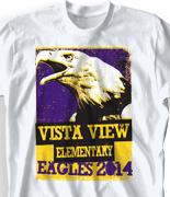 Elementary T Shirt  - Eagle Poster desn-589e3
