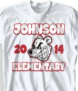 Elementary T Shirt  - Mascot Fun desn-135m2