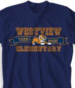 Elementary T Shirt Design - Jersey Banner clas-823l6