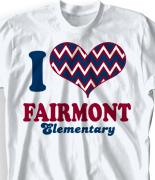 Elementary T Shirt Design - I Heart Vintage desn-149j5
