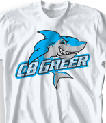 Elementary T Shirt Design - Great Sharks desn-902g1