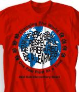 Elementary T Shirt Design - Paw World desn-217p3