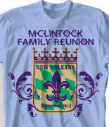 Family Reunion T Shirt - New Orleans Gathering desn-447n1