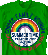 Family Reunion T Shirt - Rainbow City desn-406r1