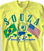 Family Reunion T Shirt - Brasil Reunion 2 desn-446i6