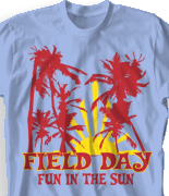 Field Day T Shirt Design - Vintage Aloha clas-595w1