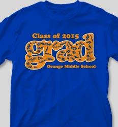 Graduation T Shirts - Grad Signatures desn-535g3