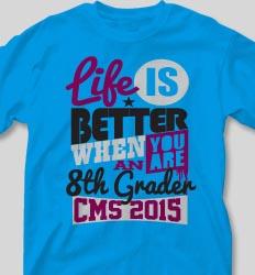 Graduation T Shirts - Life Slogans desn-634m4