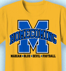 Homecoming T Shirt - Athletic Department desn-342b3