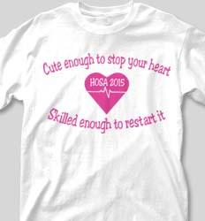 HOSA Club Shirts - Heart Wave logo-198h2