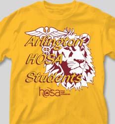 HOSA Club Shirts - Mascot Medical cool-182m1