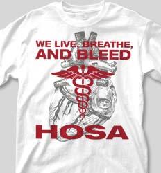 HOSA Club Shirts - Heart Valve cool-181h1
