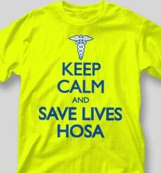 HOSA Club Shirts - Keep Calm desn-613n8