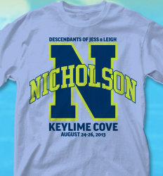 keylime cove shirt design varsity arch desn 352v4 - Family Reunion Shirt Design Ideas