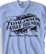 Mohonk Mountain Reunion T Shirt - Royal Line clas-725t6