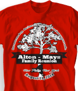 Mohonk Mountain Reunion T Shirt - Reunion Tree Banner desn-706r5