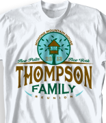 Mohonk Mountain Reunion T Shirt - Mohonk Family Tree desn-753m1