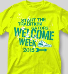 New Student Orientation T Shirts - State Qualifier desn-523s9